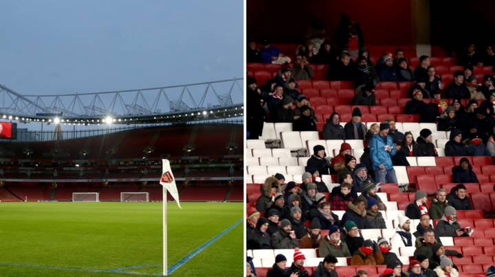 Everyone's Talking About How Empty The Emirates Stadium Is Tonight