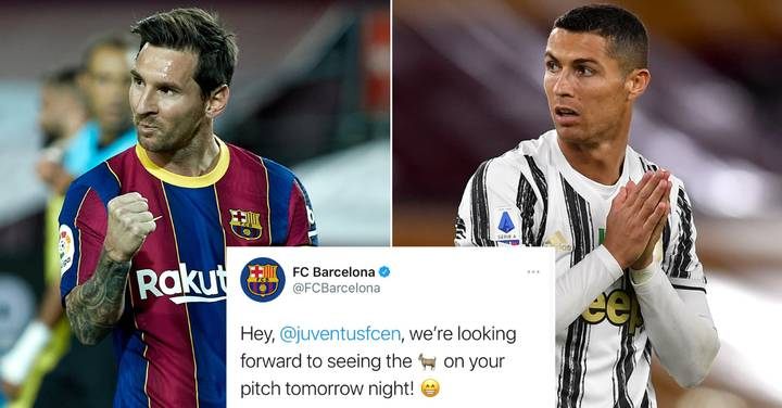 Barcelona Taunt Juventus Over 'GOAT' Lionel Messi Being Ready To Play