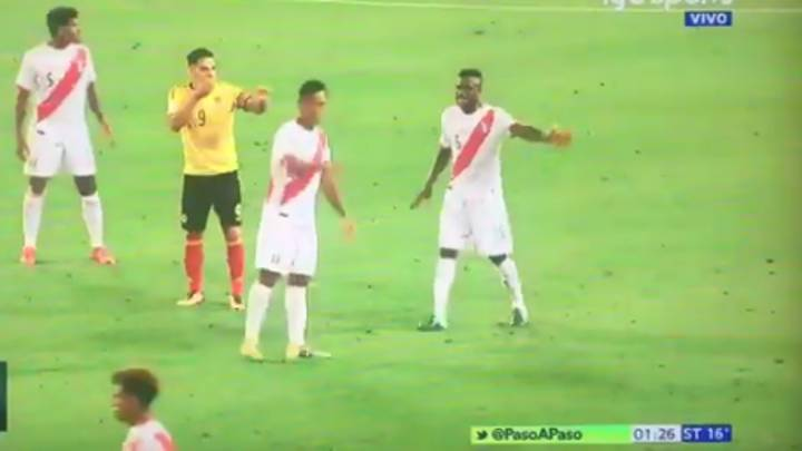 People Are Questioning Falcao's Conversations With Peru Players Last Night