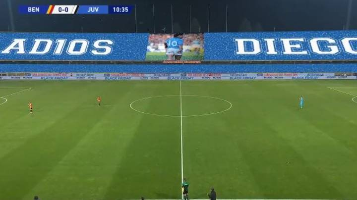 Juventus And Benevento Stop Game In 10th Minute To Pay Tribute To Diego Maradona