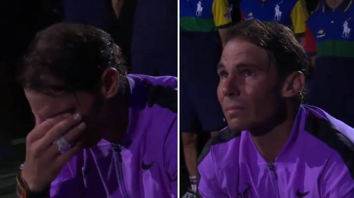 Rafa Nadal In Floods Of Tears As He Watches Montage Of His 19 Grand Slams