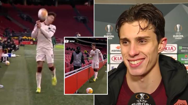 Riccardo Calafiori Brilliantly Reacts To Ball Boy Hitting Him With The Ball For Time Wasting