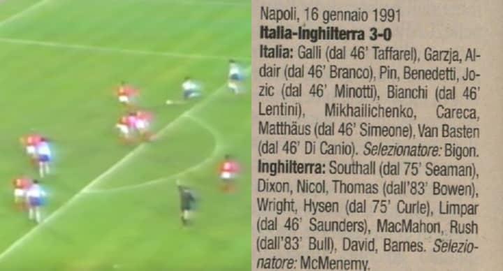 Remembering The Star-Studded English League XI vs Italian League XI Game In 1991