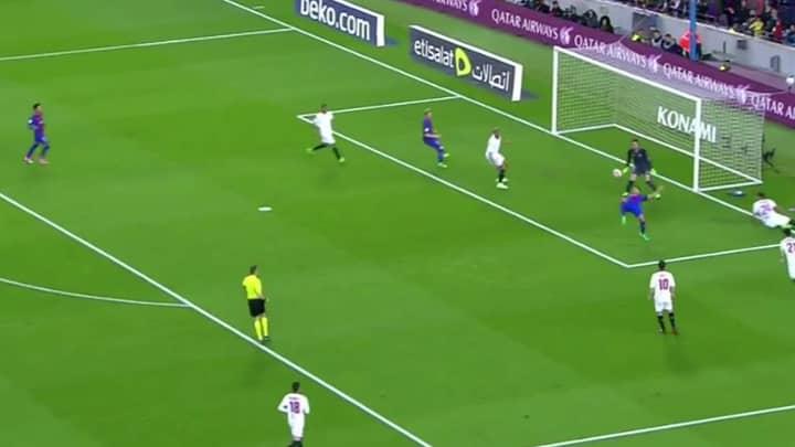 WATCH: Luis Suarez Scores Sublime Overhead Kick Vs Sevilla