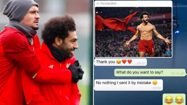 Dejan Lovren And Mohamed Salah's WhatsApp Messages After Man Utd Game Are Hilarious