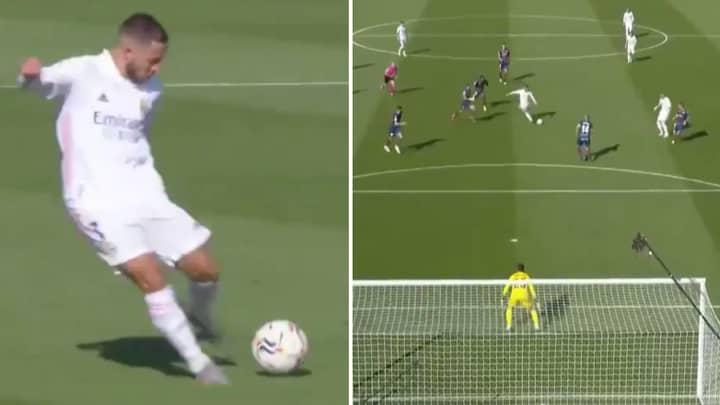 Eden Hazard Scores Stunning Goal In First Real Madrid Start Since July