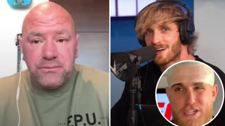 Logan Paul Sends Message To Dana White After Brother Jake Called Him A 'Bald B****'