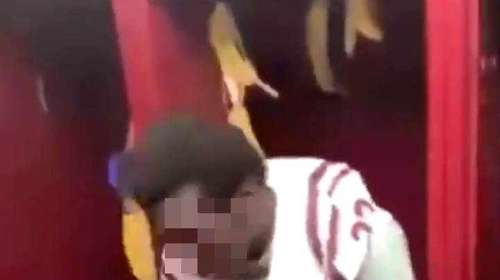 Black High School Football Player Forced To Sit In A Locker Full Of Banana Skins