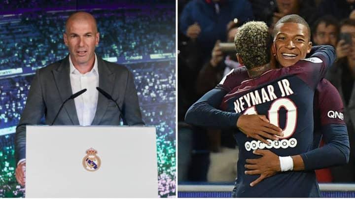 Zinedine Zidane 'Would Prefer To Sign Kylian Mbappe Over Neymar' For Real Madrid