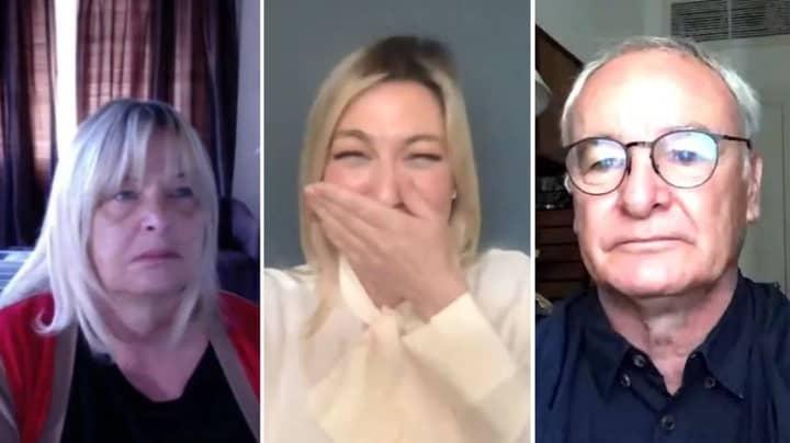 Claudio Ranieri's Wife Accidentally Appears On Sky Sports' Football Show
