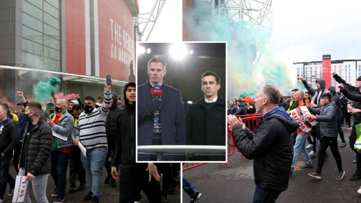 Gary Neville And Jamie Carragher Branded 'Irresponsible' For Defending Manchester United Fan Protests