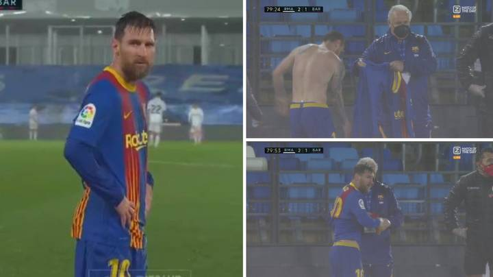 Lionel Messi Had To Change His Shirt During El Clasico