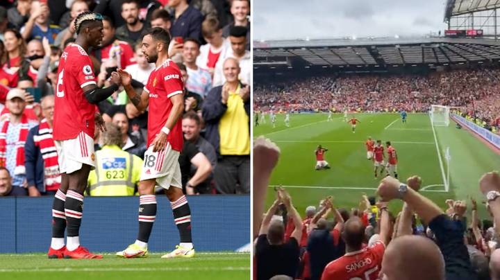 Fan Footage Emerges Of Paul Pogba Copying Bruno Fernandes' Trademark Celebration And Fans Are Buzzing
