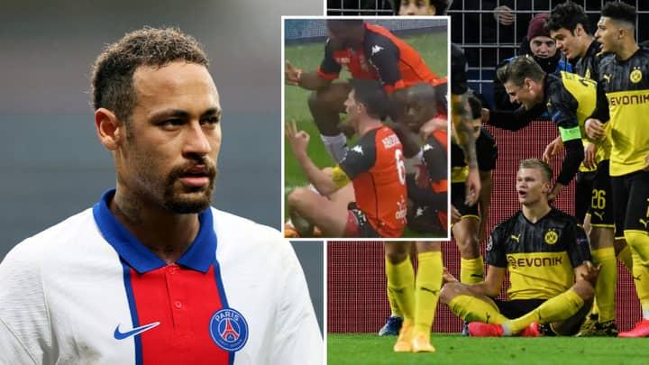 Neymar Fires Back At Borussia Dortmund After They Troll Paris Saint-Germain Over Lorient Defeat