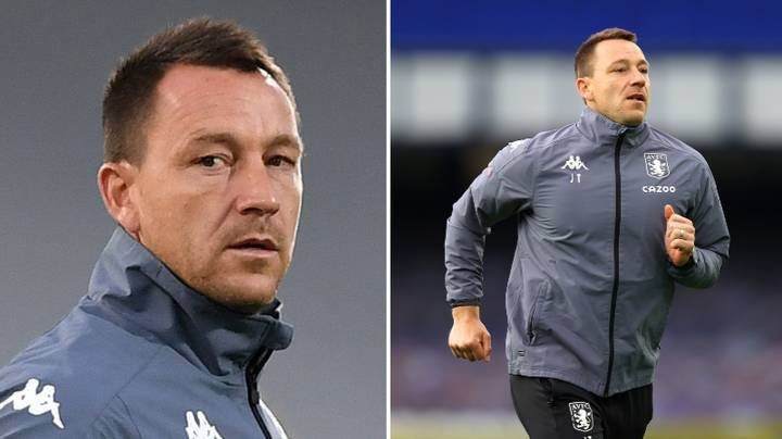 John Terry Holds Up Imaginary Trophy At Spurs Fans After They Mock Him On Sidelines