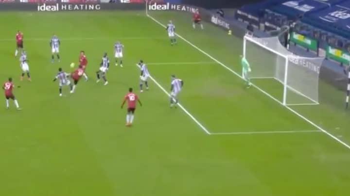 Bruno Fernandes Scores Exquisite Volley Against West Bromwich Albion