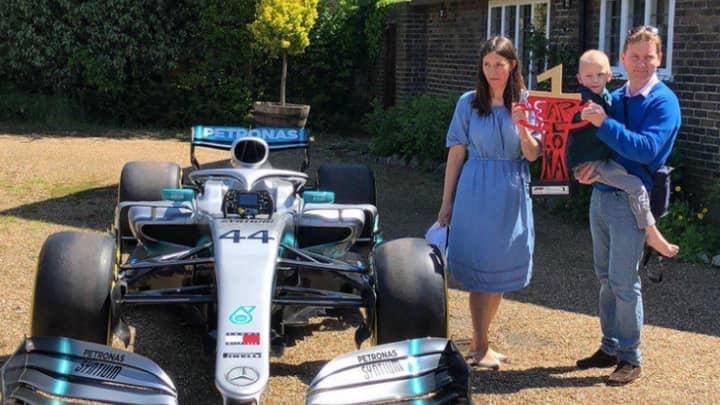 Lewis Hamilton Sends Formula 1 Car To Home Of Terminally Ill Fan