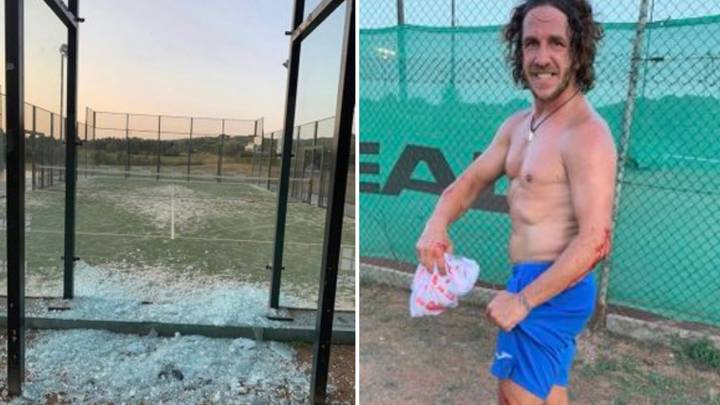 Carles Puyol Showed 'Unreal Mentality' After Smashing Through Glass To Get A Tennis Ball Back