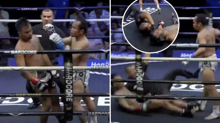 Thai Boxing Referee Was Praised After Stopping KO'd Fighter Hitting His Head
