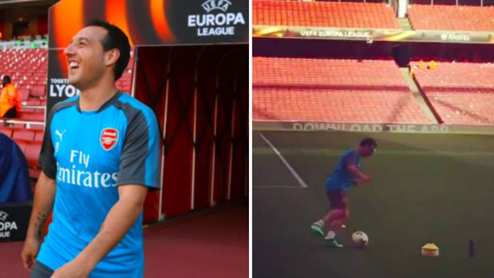 Watch: Santi Cazorla Takes Part In Training Ahead Of Arsenal Vs Atletico