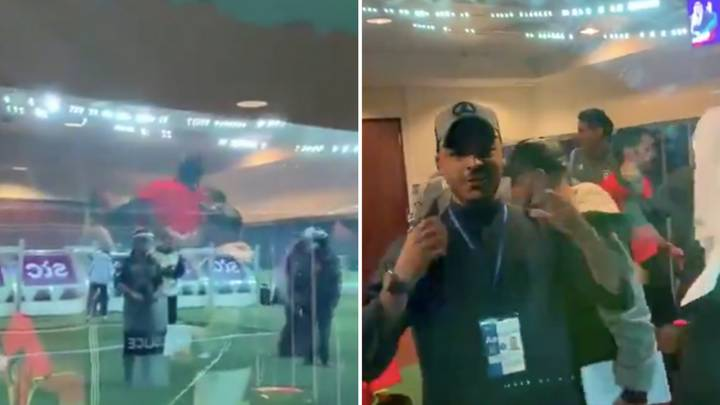 Insane Footage Of Kuwait SC Throwing Referee Up In The Air Inside Private Box After Winning Cup Final