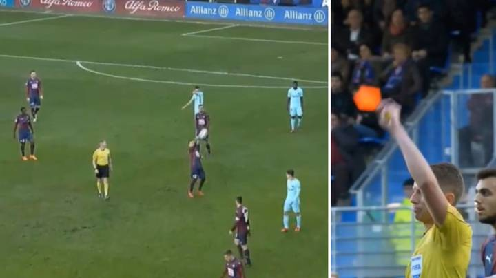 Eibar's Fabian Orellana Got One Of The Most Ridiculous Red Cards