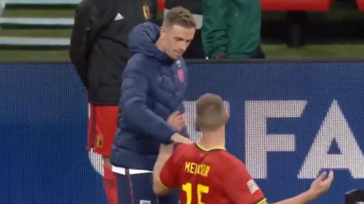 Thomas Meunier Mocks Jordan Henderson After England's Win Over Belgium