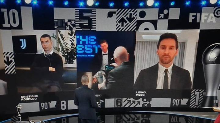 Cristiano Ronaldo's Reaction To Robert Lewandowski Beating He And Lionel Messi To The Best FIFA Men's Player Award