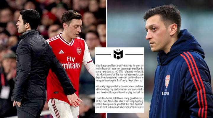 Mesut Ozil Questions Arsenal 'Loyalty' In Emotional Statement On Twitter