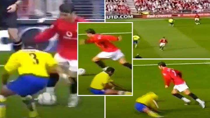Cristiano Ronaldo Ruined Ashley Cole And Dropped Him On His Backside During Man United Vs Arsenal