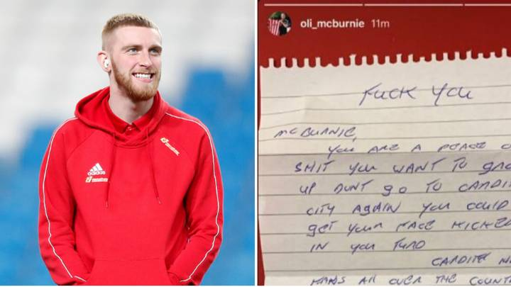 Oli McBurnie Shares Hilarious Hate Mail From Cardiff City Fan