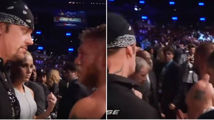 The Intense Confrontation Between Brock Lesnar And The Undertaker At UFC 121