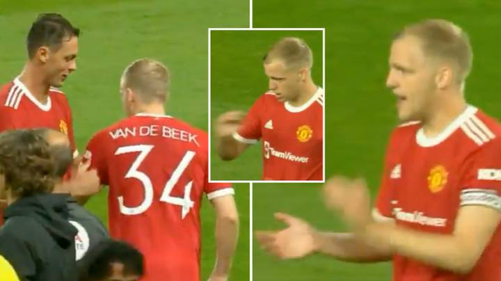 The Moment Donny Van De Beek Is Given Captain's Armband Against Brentford Is So Wholesome