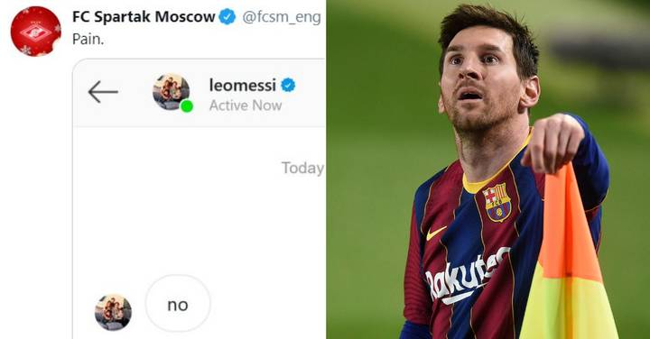 Lionel Messi 'Rejects Spartak Moscow' In Hilarious Social Media Exchange