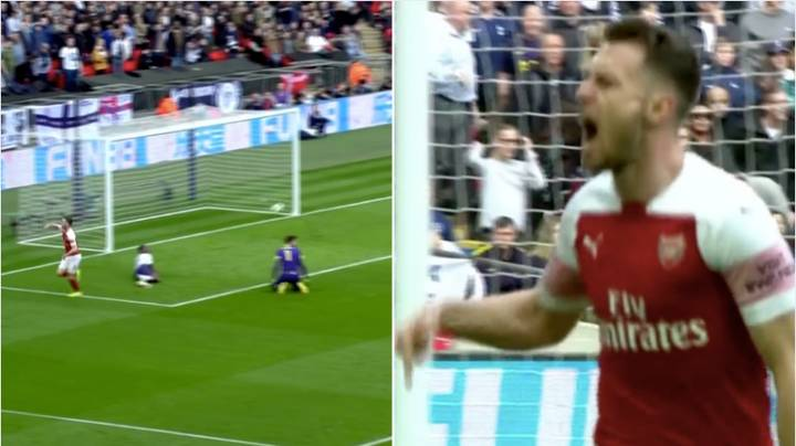 Aaron Ramsey Points At Wembley Turf And Arsenal Fans Are Loving What He Said