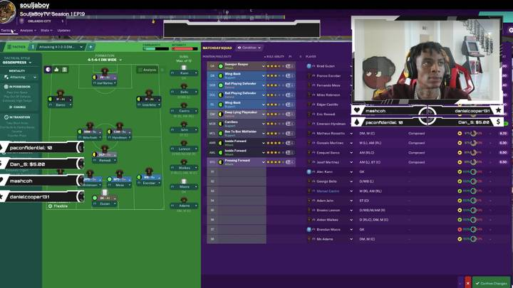 Soulja Boy Was Playing Football Manager Last Night As 2020 Gets Even Weirder