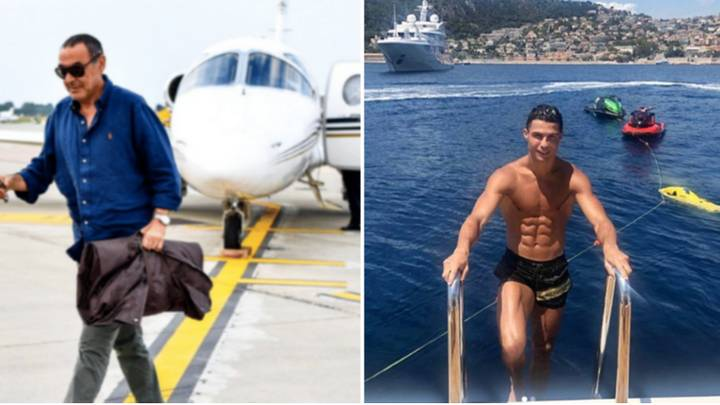 Maurizio Sarri Holds Meeting With Ronaldo On His Yacht, Wants To Turn Him Into 'CR9'