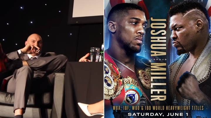 Tyson Fury Finally Reacts To Anthony Joshua Fighting Jarrell Miller In New York