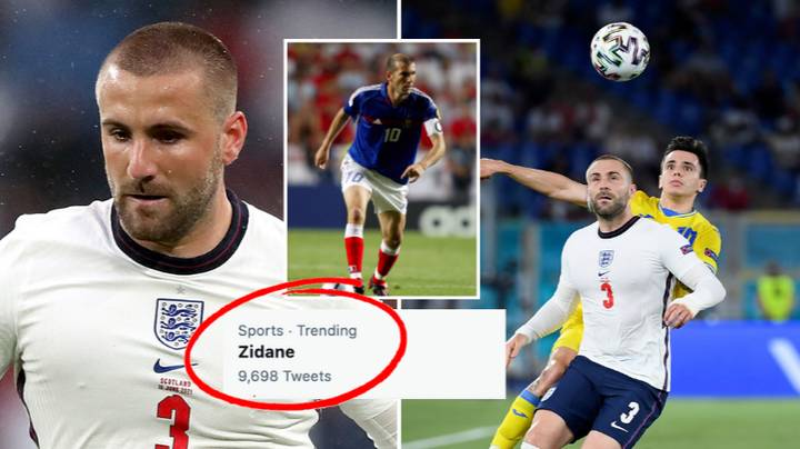 Zinedine Zidane Is Trending After Luke Shaw Achieves Stat In Three Minutes And 51 Seconds vs Ukraine