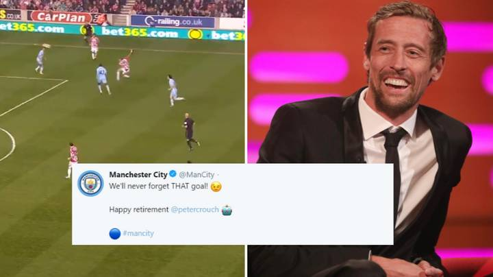 Manchester City Troll Peter Crouch After He Announced His Retirement