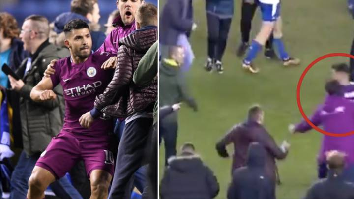 The Reason Why Sergio Aguero Hit Wigan Fan During Pitch Invasion Revealed