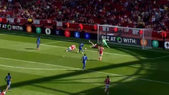 Ben White Made A Brilliant Goal Saving Block During Arsenal Friendly