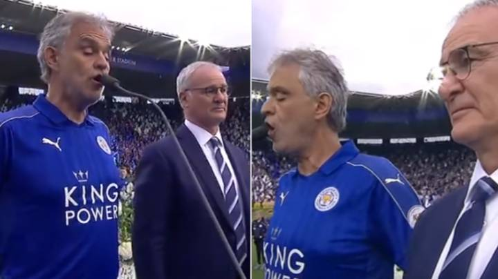When Andrea Bocelli Sang Nessun Dorma To Celebrate Leicester City Winning The League