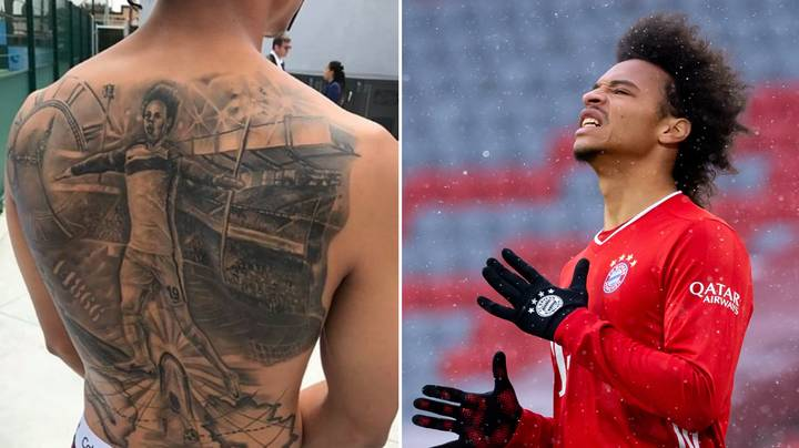 Leroy Sane Regrets Huge Back Tattoo He Got When At Manchester City