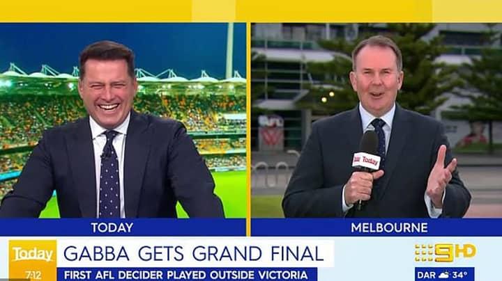 Sports Reporter Calls Karl Stefanovic A 'Stupid Little Man' After Cheeky AFL Joke