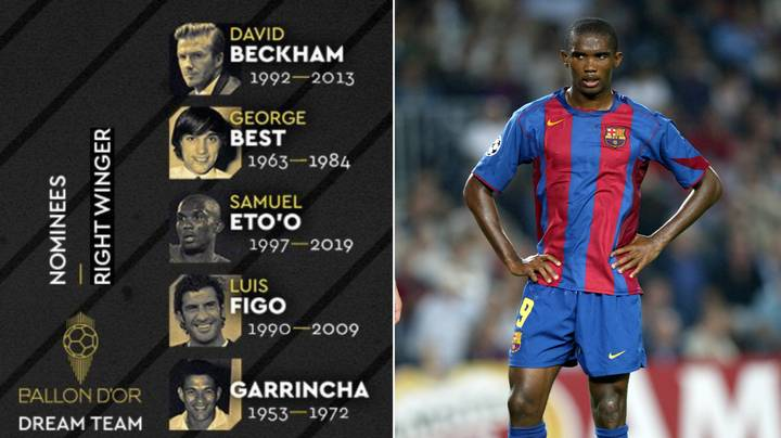 Samuel Eto'o Fumes At France Football After Being Included In Top Ten Right-Wingers List