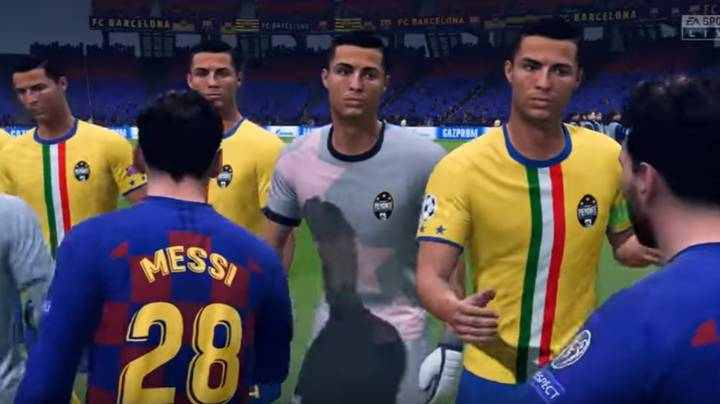 YouTuber Simulates A Team Of Lionel Messis vs A Team Of Ronaldos On FIFA 20