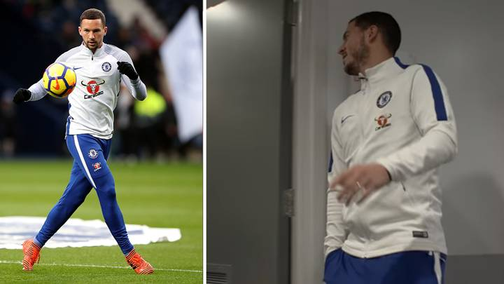 Eden Hazard's Reaction To Danny Drinkwater Being In The Starting XI