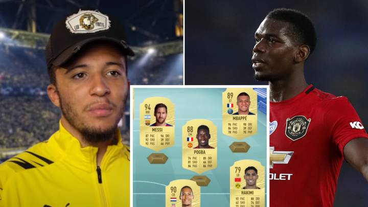Jadon Sancho Picks An Insane FIFA 20 Ultimate Team, Includes Paul Pogba