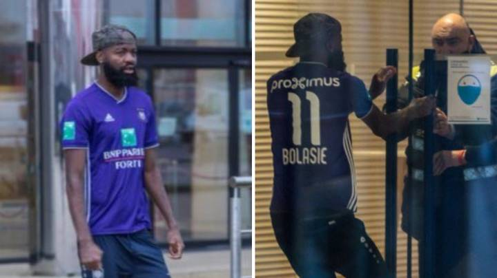 Royal Antwerp Forward Didier Lamkel Ze Tries To Force Move By Arriving To Training In Anderlecht Kit